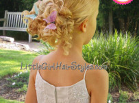 Butterfly Bun Young Girls Hairstyle