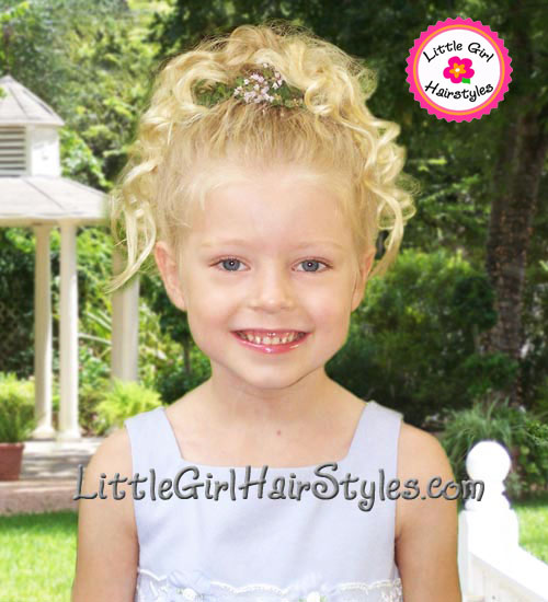 Toddler Girls Hairstyle - Flowers in her hair