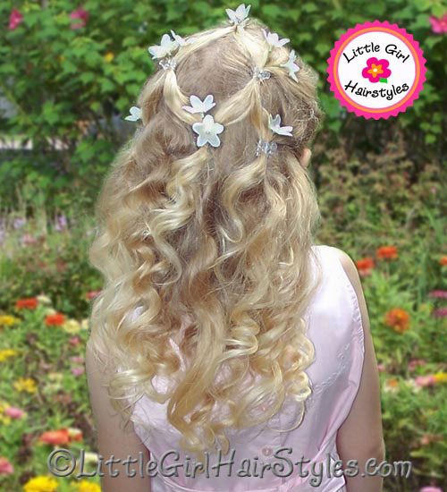 Little Girls Diamond Hairstyle Photo