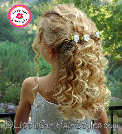 Flower Girl Hairstyle Little Girls