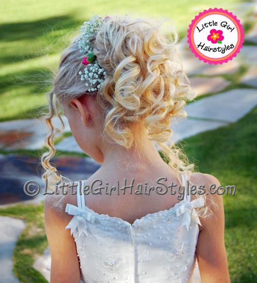 Flower Girl Closeup Hairstyle - Tossing Petals