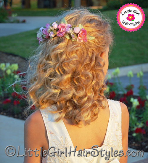 Fower Girls Hairstyle for Medium Hair