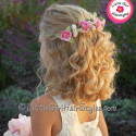 Flower Girls Hairstyle Medium Length Hair