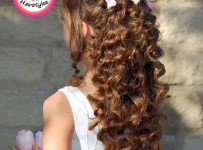 Flower Girl Hairstyle Roses Pull Back
