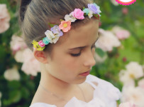 Colorful Flower Headband Easy Hairstyle