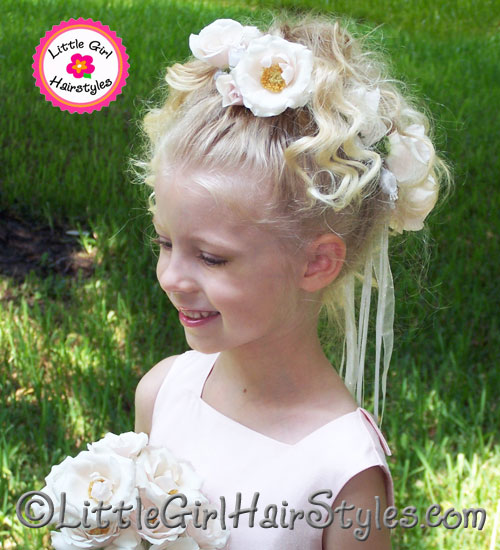 Simple wedding flower wreath hairstyle you can do flower wreath hairstyle for flower girls pmusecretfo Choice Image