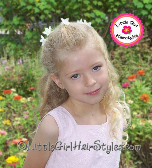 Girls Diamond Hairstyle - Front