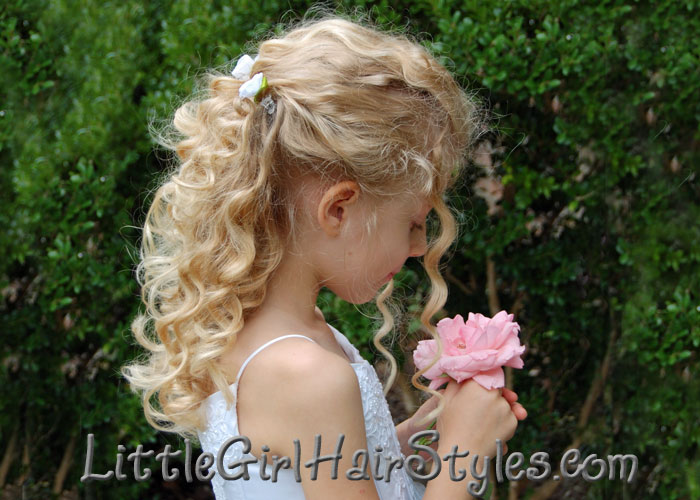 Little Girls Pull Back Hairstyle