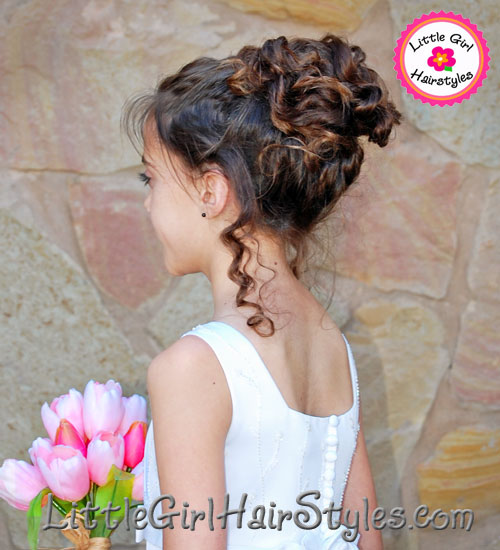 Young Girls Chic Updo Hairstyle