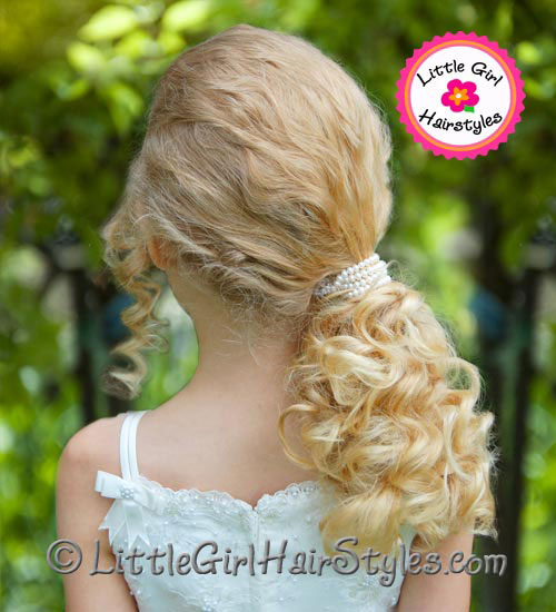Pretty Pearl Ponytail Girls Hairstyle