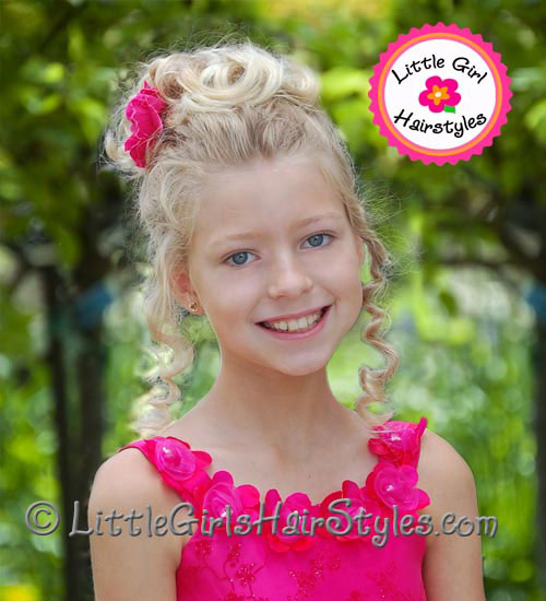 Natural Hair Pageant Updo Little Girls
