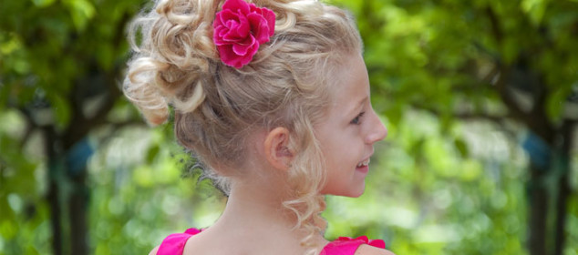 Natural Pageant Updo Hairstyle