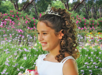 Girl Princess Tiara Hairstyle