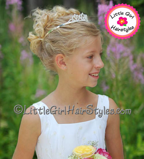 Tiara Hairstyle Idea - Updo with Curls