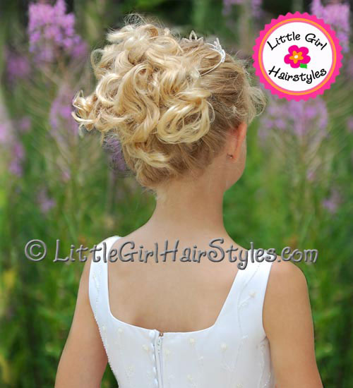 Tiara Updo Hairstyle for Girls - Back View