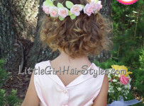 Toddler Flower Girls Halo Hairstyle