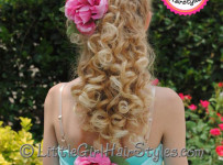 Dance Hairstyle with Accent Flower