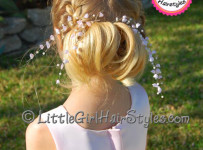 French Braid with Curls Little Girls Hairstyle