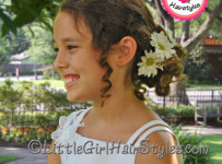 Flower Girl Low Bun Hairstyle