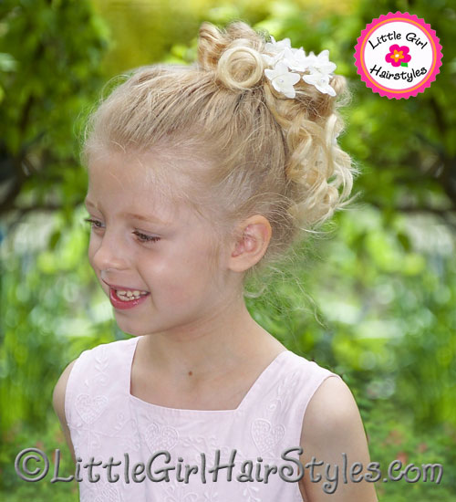 Flower Girls Updo Hairstyle for Little Girls
