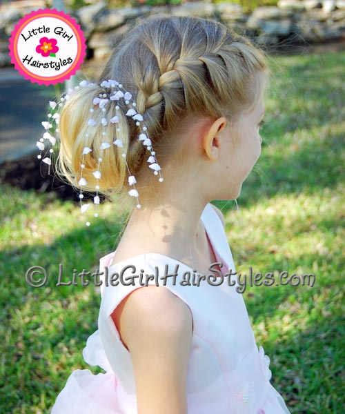 Marvelous Girls French Braid Updo Unique Hairstyle With French Braids Hairstyle Inspiration Daily Dogsangcom