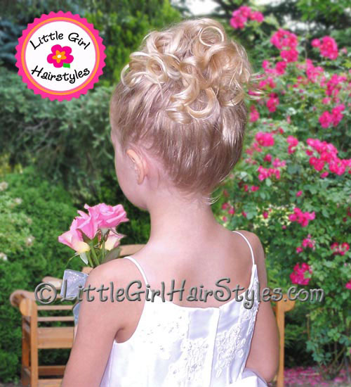 Little Girl Tiara Hairstyle Back View
