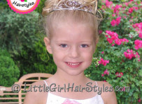 Toddler Tiara Updo Hairstyle for Girls