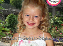Little Girls Tiara Hairstyle