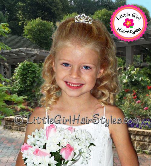 Little Girls Tiara Hairstyle
