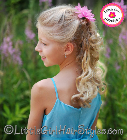 Natural Pageant Hairstyle for Young Girls