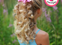 Pageant Girls Natural Hairstyle Braid and Curls