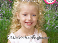Toddler Tiara Hairstyle