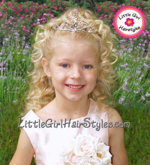 Toddler Tiara Hairstyle