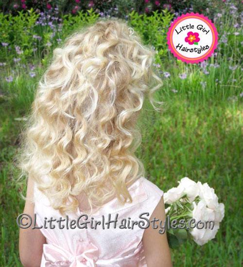 Toddler Tiara Hairstyle Beautiful Curls Back