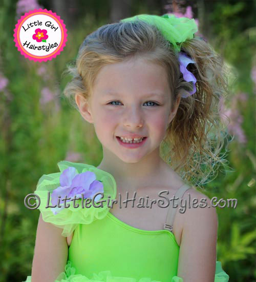 Little Girls Hairstyle for Dance - Side Ponytail