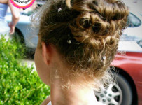Girls Hairstyle - Updo Layered Bun