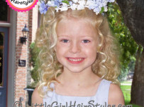 Flower Girls Hairstyle with Wedding Flower Halo