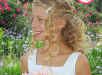 Natural Pageant Hairstyle for Girls