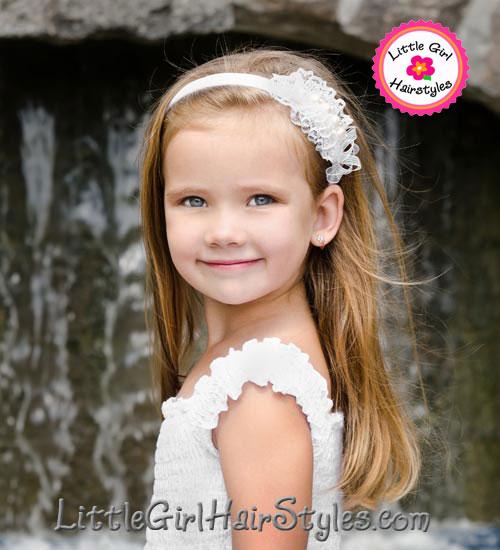 Young Girls Headband Hairstyle