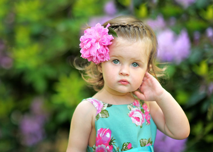 Toddler Girls Hairstyle with Flower